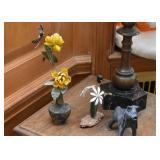 Metal Flower Figurines