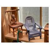 Miniature Furniture, Doll Furniture, Wooden Figures, Teddy Bear
