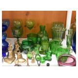 Vintage Green Glass / Glassware