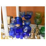 Vintage Cobalt Blue Glass / Glassware
