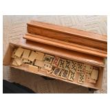 Vintage Card Game (Card Tiles & Wooden Stands)