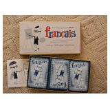 Vintage Berlitz Francais Card Game