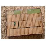 Vintage Mahjong Game Tiles