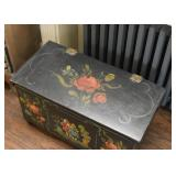 Hand Painted European Chest / Trunk