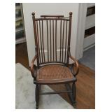 Antique Rocking Chair / Rocker with Cane Seat