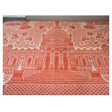 Woven Pictorial Bedspread / Coverlet