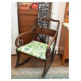 Antique Scroll Arm Rocking Chair  / Rocker