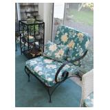 Wrought Iron Patio / Porch / Garden Chair with Cushions