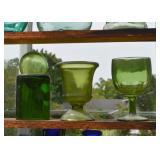 Colorful Glassware - Bottles, Jars, Stemware, Etc.