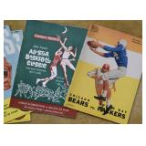 Vintage Harlem Globetrotters Program, Chicago Bears Program