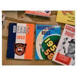 Vintage Football, Basketball & Baseball Books and Magazines