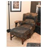 Pair of Wingback Chairs & Ottomans