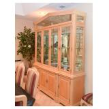 Lighted China Cabinet with Glass Shelves