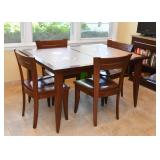 Kitchen / Dining Table & 4 Chairs (Inset Tile Top)