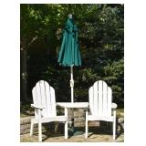 Pair of Garden Chairs, Table & Umbrella Set (there are two of these sets)