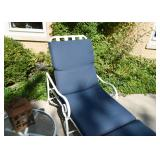 White Metal Outdoor Loungers / Lounge Chairs (there are 4 of these available)
