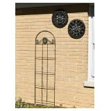 Garden Trellis, Outdoor Thermometer, Outdoor Clock