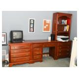 Traditional Style Chest of Drawers, Desk & Chest with Bookcase Hutch
