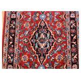 Persian Kashan Carpet / Rug Runner (approx. 9