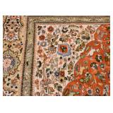 Persian Tabas Carpet / Rug with Animals (approx. 11