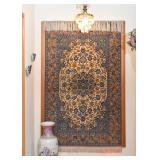Persian Iranian Isfahan Carpet / Rug (approx. 5