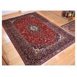 Persian Iranian Kashan Carpet / Rug, Signed (approx. 7