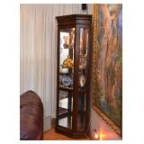 Lighted Corner Display Cabinet / Etegere