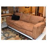 Caramel Brown 3-Seat Microfiber Sofa
