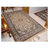 Persian Nain Carpet / Rug (approx. 4