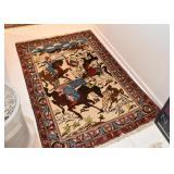 Persian Ishfahan Pictorial Carpet (approx. 5 x 3.2)