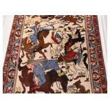 Persian Ishfahan Pictorial Carpet / Rug (approx. 5