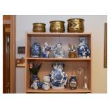 Chinese Blue & White Porcelain / Pottery, Ceramic Mudman, Dutch Figures