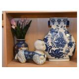 Blue & White Porcelain / Pottery, Asian Figurines, Etc.