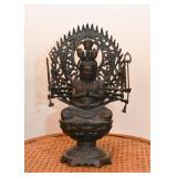 Metal Maha Cundi Mother Guan Yin Buddha Statue