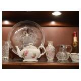 Teapot, Pottery Vases, Glassware, Etc.