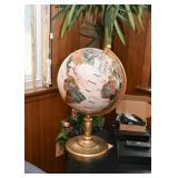 Desk Globe with Semi-Precious Stones