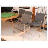 Set of 4 Chrome Armchairs (Gray Fabric)
