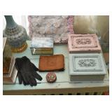 Jewelry / Trinket Boxes, Old Photo Album, Gloves, Yo-Yo Throw Pillow