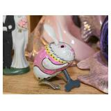 Tin Litho Wind Up Toy - Easter Bunny