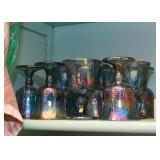 Vintage Carnival Glass (Blue & Orange)