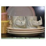 Rhino Coffee Mugs, Dinner Plates