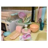 Melamine Plates & Bowls, Plastic Kitchen Utensils, Butter Keeper