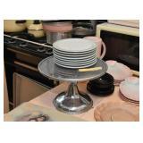 Metal Dessert Pedestal / Cake Plate, Dessert Plates