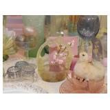 Vintage Easter Decor, Depression Glass, Glassware