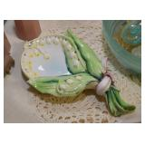 Vintage Lily of the Valley Pottery Dish