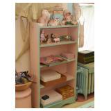 Pink & Teal Painted Bookshelf