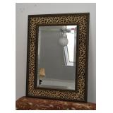 Wall Mirror with Leopard Print Frame
