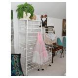 White Metal Storage Drawer Units, Home Decor