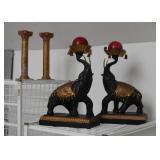 Home Decor - Pillar Candlesticks & Elephant Candle Holders
