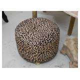 Leopard Print Footstool / Ottoman